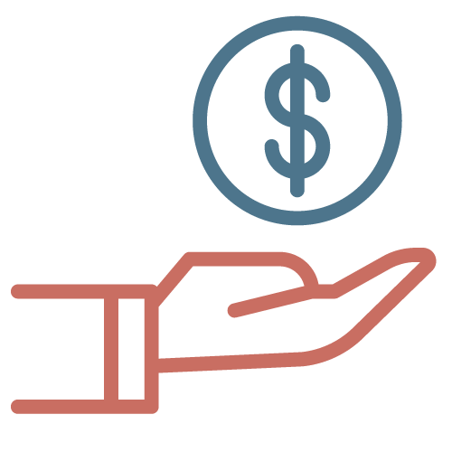 Hand holding a dollar sign