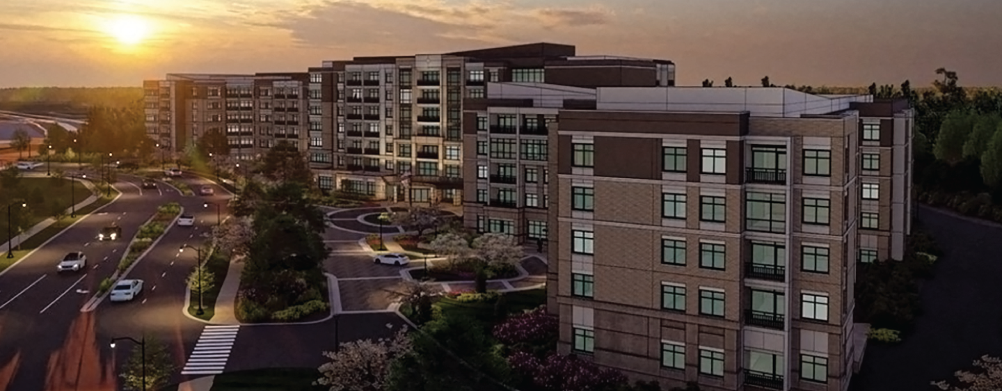 Architectural photo of Senior Living Apartments at Sunset